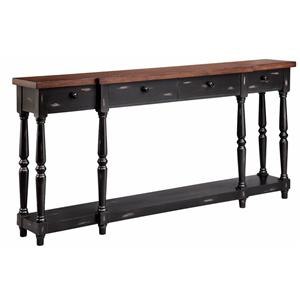 Morris Home Furnishings Accent Tables 4-Drawer Console Table