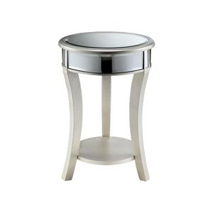Morris Home Furnishings Accent Tables Mirrored Round Table