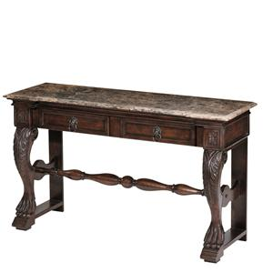 Morris Home Furnishings Accent Tables Carved Console