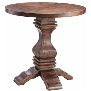 Morris Home Furnishings Accent Tables Round Pedestal Table