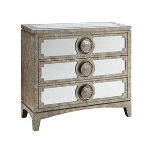 Morris Home Furnishings Cabinets Carlton 3-Drawer Mirrored Cabinet