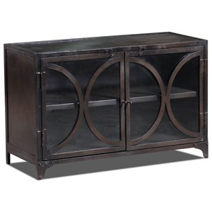 Morris Home Furnishings Cabinets Amecka Two-Door Cabinet