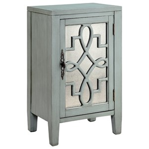 Morris Home Furnishings Cabinets Leighton 1-Door Cabinet Grey
