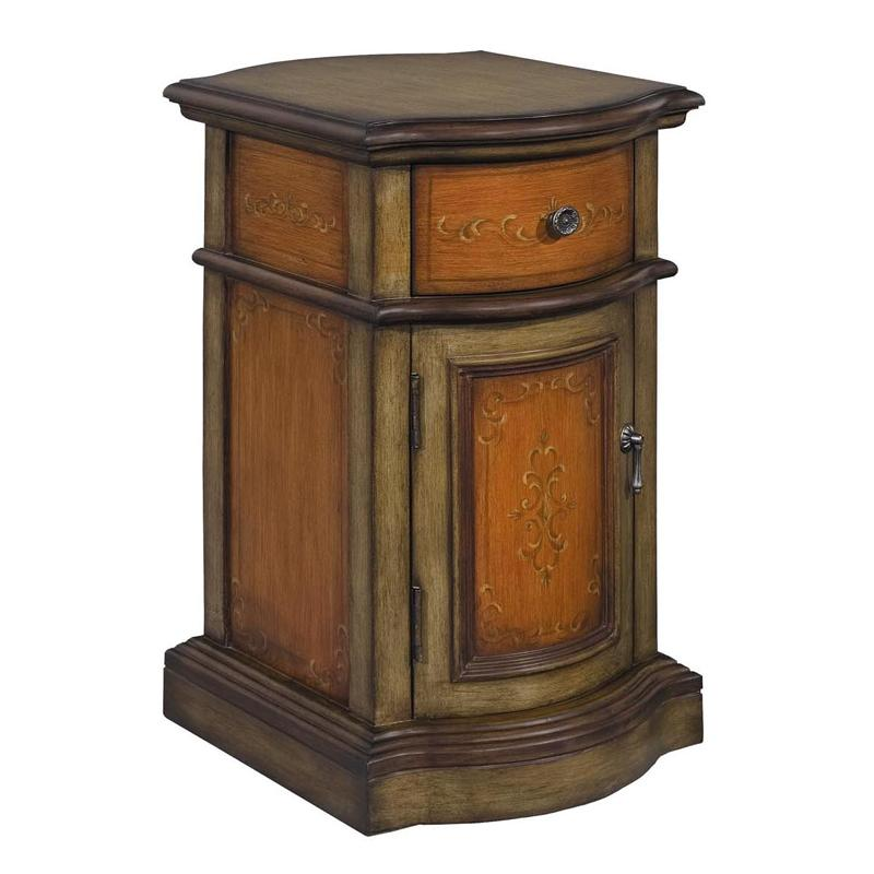 Stein World Cabinets Tuscan Green Petite Cabinet With 1 Drawer And 1 Door Zak 39 S Fine Furniture