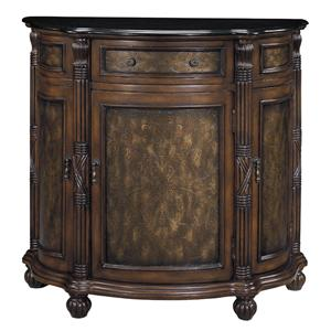 Morris Home Furnishings Cabinets Granite Top Demilune Cabinet