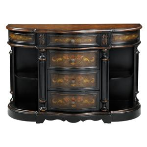 Morris Home Furnishings Chests Demilune Chest