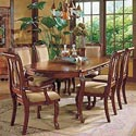 Morris Home Furnishings Harmony  Traditional Upholstered Seat Dining Arm Chair - Shown in 7-Piece Dining Set