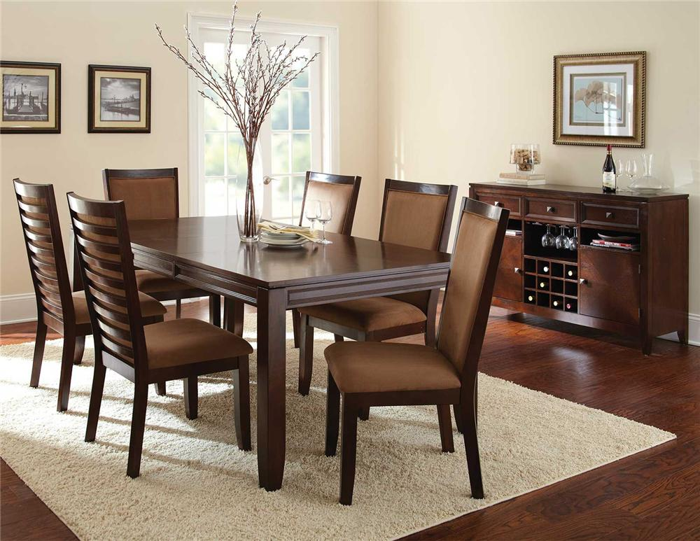 Steve Silver Cornell 8Pc Dining Room - Item Number: CN500T+6x500S+500SV