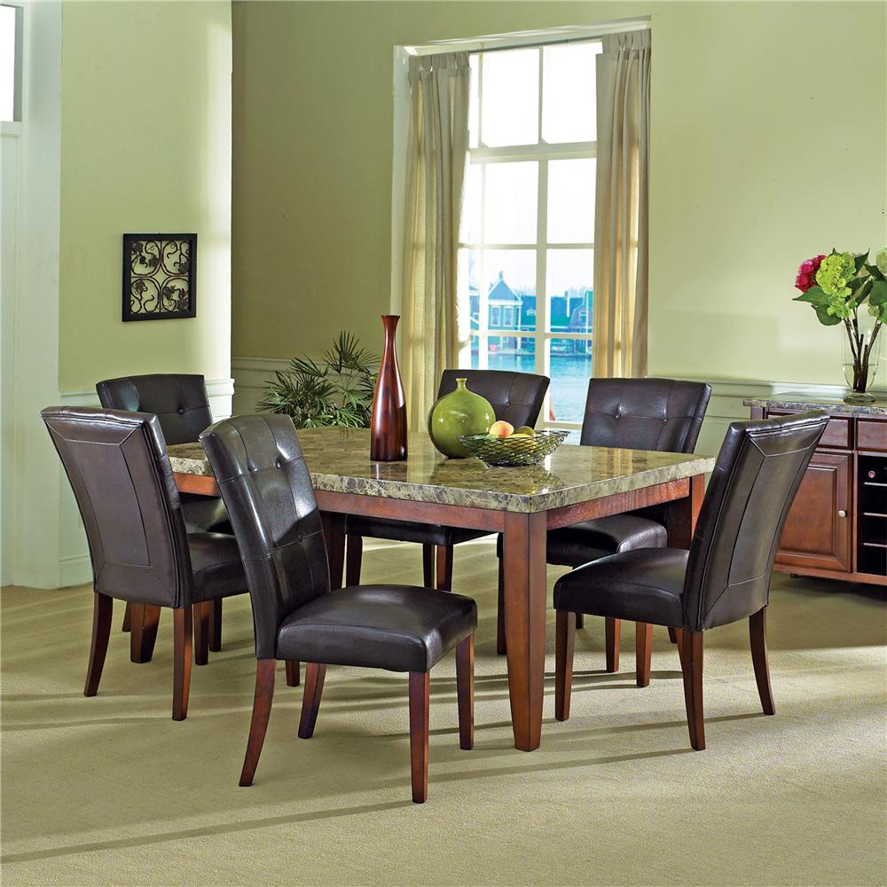 Steve Silver Montibello 7Pc Dinette - Item Number: MN-7Pc
