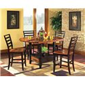 Morris Home Furnishings Abaco 5-Piece Gathering Table Set with Storage Base and Drop Leaves