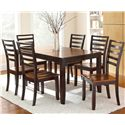 Morris Home Furnishings Abaco 7-Piece Dining Set - Item Number: AB300T+6xAB300S