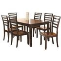 Steve Silver Abaco 7-Piece Dining Set - Item Number: AB300T+6xAB300S