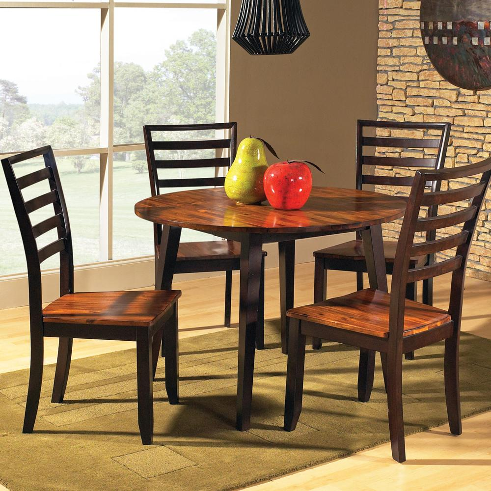 Steve Silver Abaco 5-Piece Drop Leaf Table Set - Item Number: AB4242T+4xAB300S