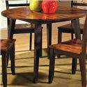 "Steve Silver Abaco 42"" Round Drop Leaf Leg Table - Item Number: AB4242T"