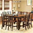 Steve Silver Abaco 9-Piece Gathering Table Set - Item Number: AB500PT+8xAB500CC