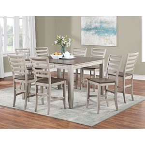 9-Piece Counter Table and Chair Set