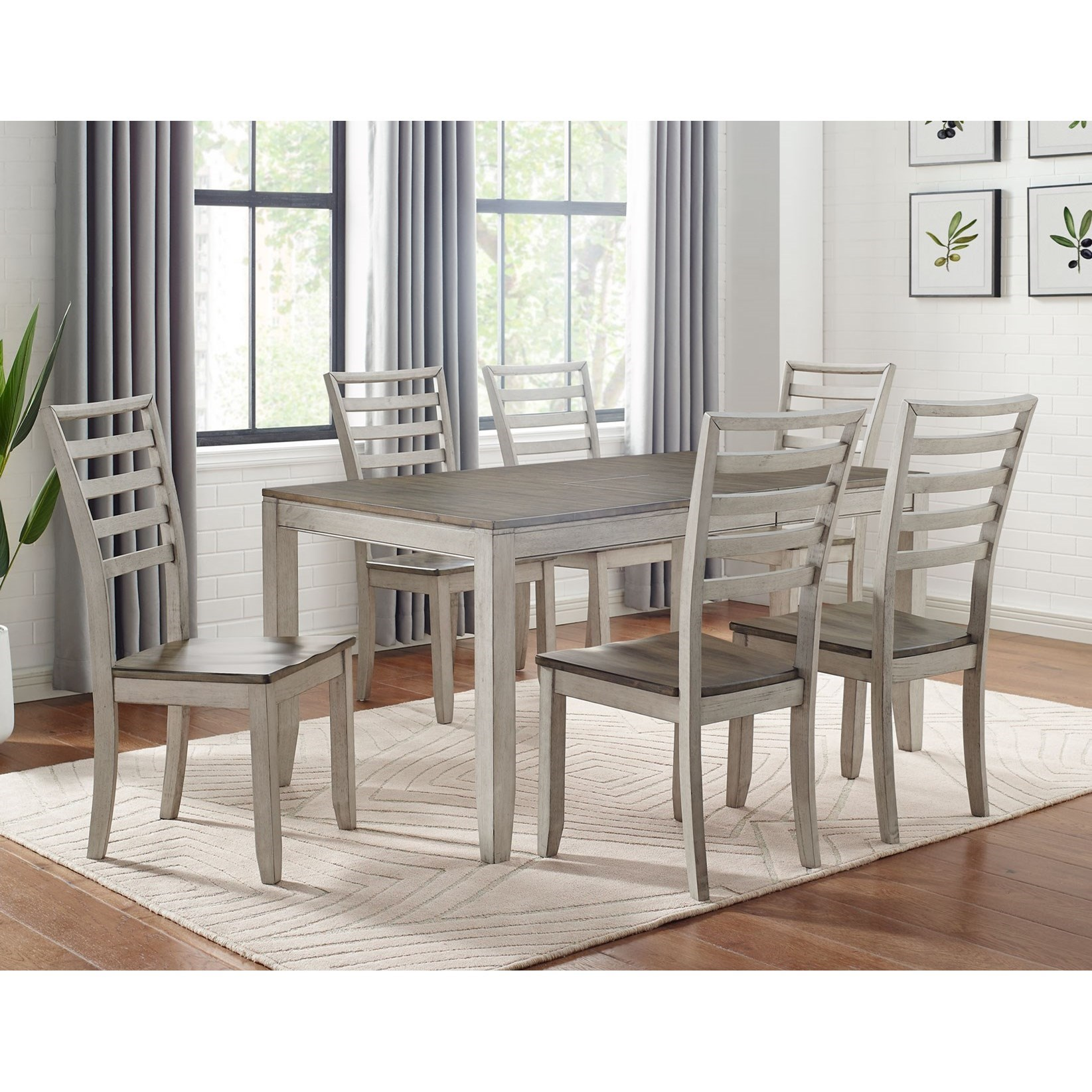 Abacus 7-Piece Table and Chair Set by Steve Silver at Nassau Furniture and Mattress
