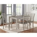 Vendor 3985 Abacus 7-Piece Table and Chair Set - Item Number: CU500T+6x500S