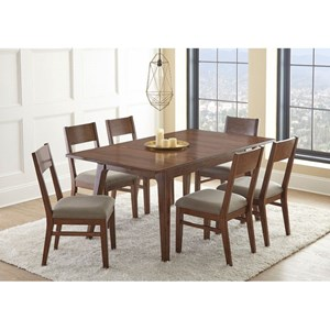 Steve Silver Adeline Table and Upholstered Side Chairs