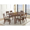 Steve Silver Adeline Table and Upholstered Side Chairs - Item Number: AE500T+6xS
