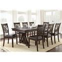 Steve Silver Adrian 7 Piece Table and Chair Set - Item Number: AD600B+T+6xS