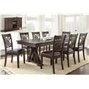 Steve Silver Adrian 8 Piece Table and Chair Set with Server - Item Number: AD600B+T+6xSxSV