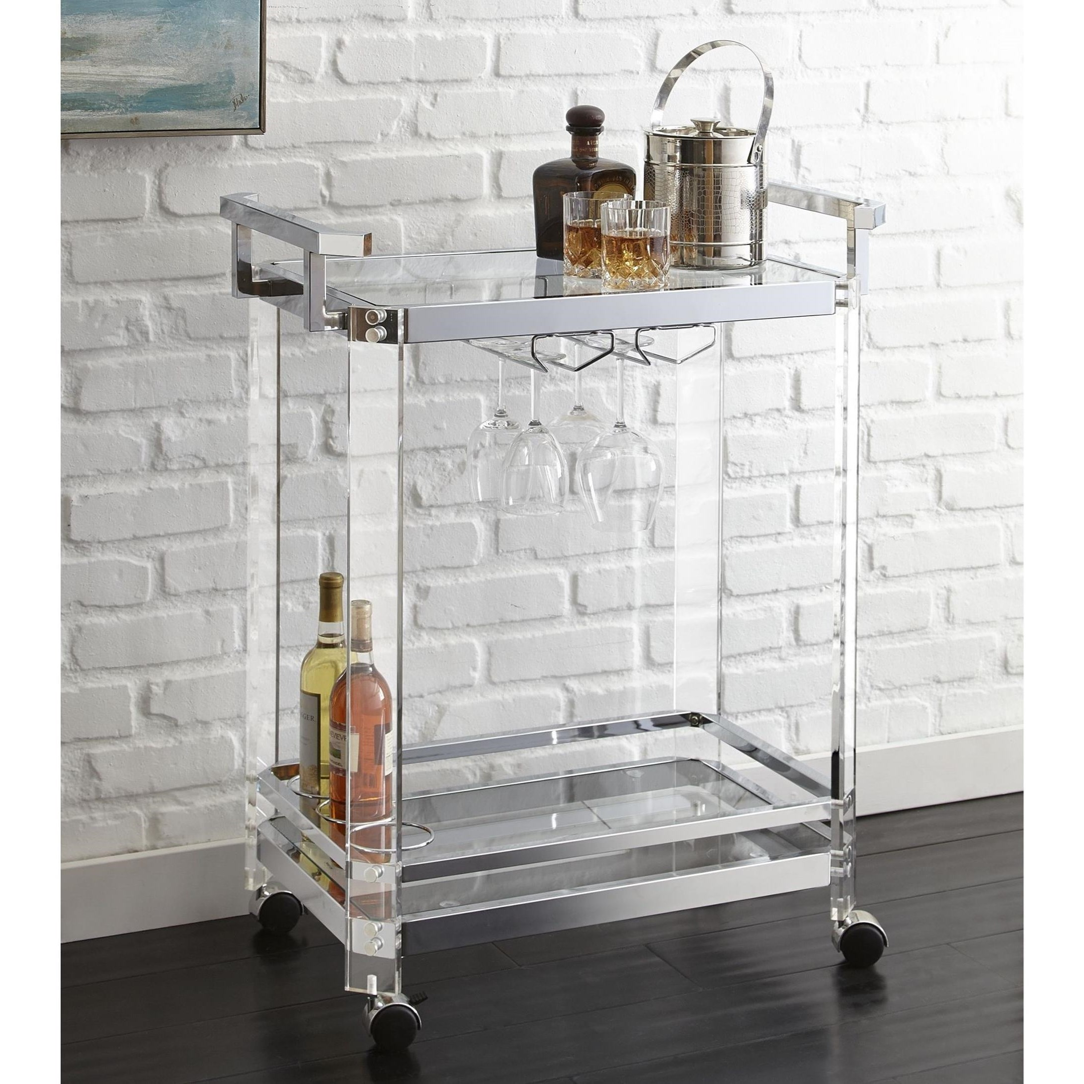 Steve Silver Aerin Server Cart - Item Number: AE300C