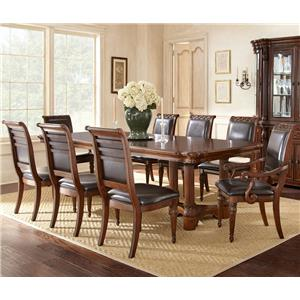 Vendor 3985 Alberta 9 Piece Dining Set