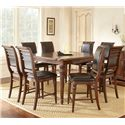 Vendor 3985 Alberta 9 Piece Counter Height Dining Set - Item Number: AB700PT+8xCC