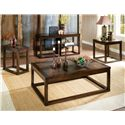 Morris Home Furnishings Alberto Sofa Table with 2 Shelves - Shown with Cocktail Table, End Table & Chairside Table