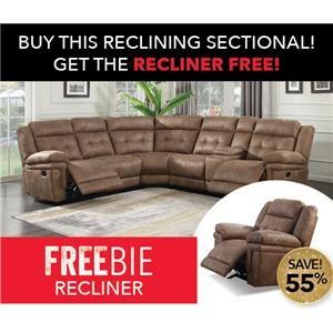 Morris Home Allan Allan Reclining Sectional Sofa with Free Rec