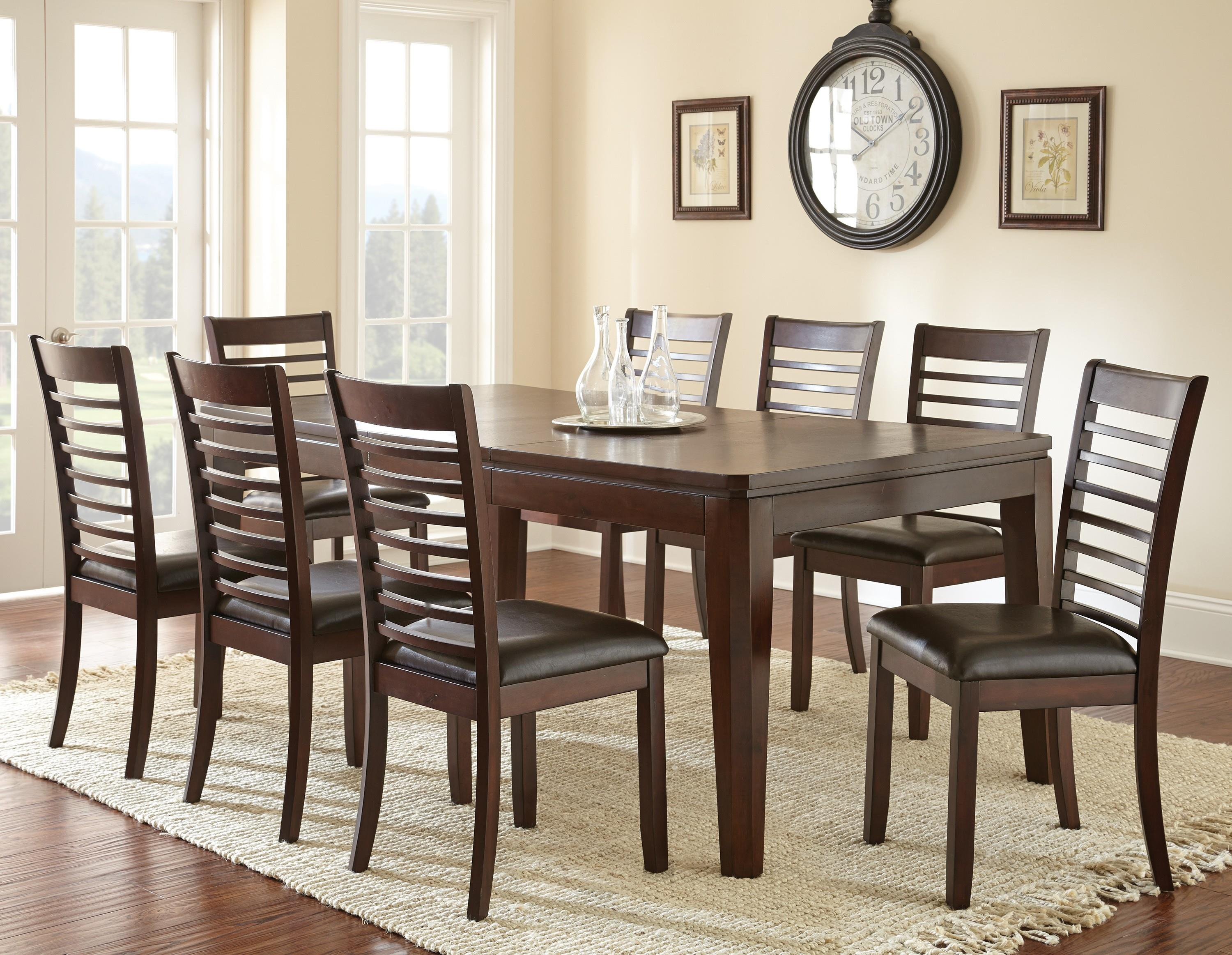 Steve Silver Allison 9-Piece Dining Table and Side Chair Set - Item Number: AS700T+8xS