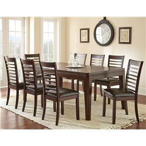 Steve Silver Allison 9-Piece Dining Table and Side Chair Set