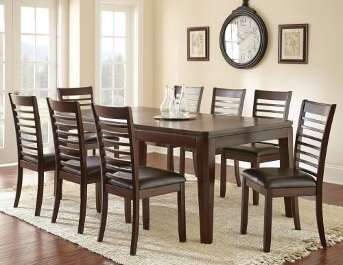 Steve Silver Allison Dining Table & 4 Side Chairs - Item Number: STEV-GRP-AS700TBL4