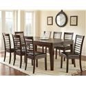 Steve Silver Allison Dining Table & 6 Side Chairs - Item Number: STEV-GRP-AS700TBL6