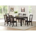 Steve Silver Ally 7 Piece Table and Chair Set - Item Number: AS700TC+6xSC