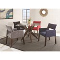 Steve Silver Amalie Five Piece Chair & Table Set - Item Number: AL4848TT+TB+350SG+350SK+350SN+350SR