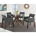 Steve Silver Amalie Five Piece Chair & Table Set - Item Number: AL4848TT+TB+4x350SG