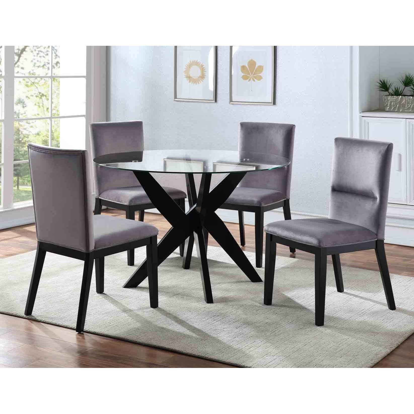 Amalie 5-Piece Dining Set  by Steve Silver at Van Hill Furniture