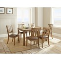 Steve Silver Ander Seven Piece Dining Set - Item Number: AD450T+6x0S
