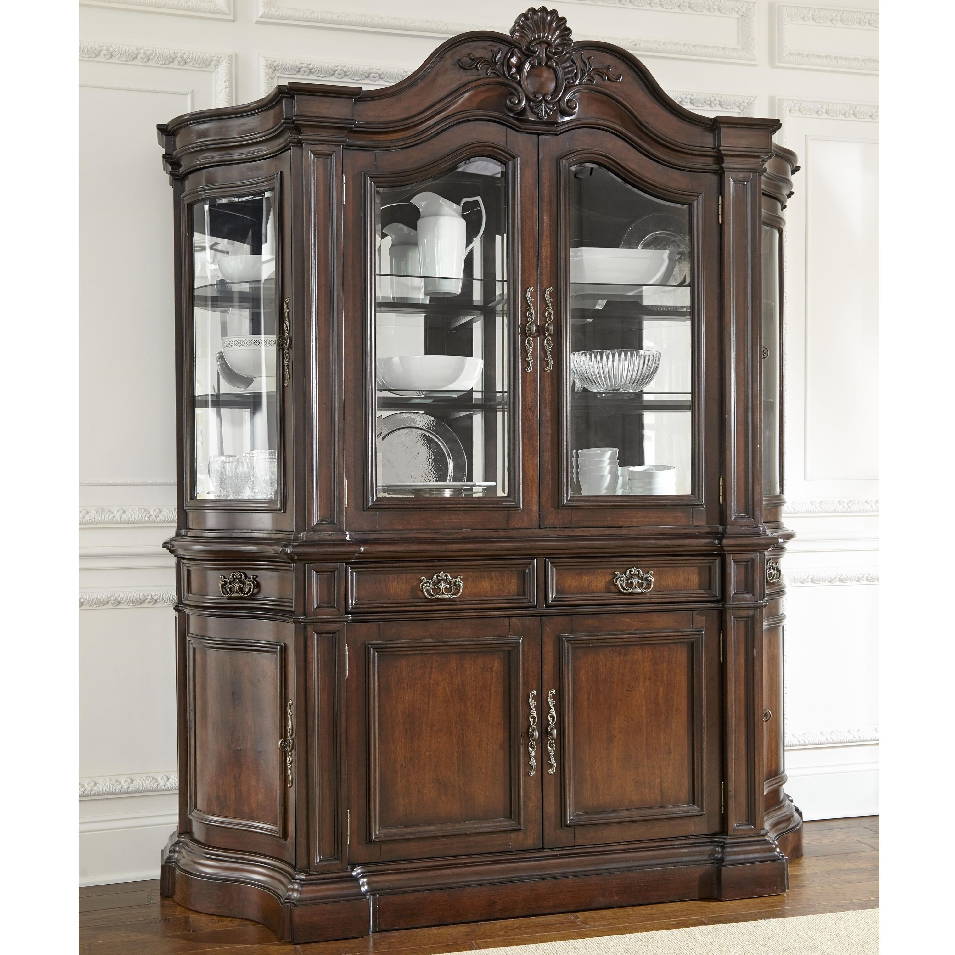 Steve Silver Angelina China Cabinet - Item Number: AG486B+H