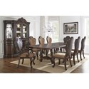 Vendor 3985 Angelina 9 Piece Traditional Dining Set