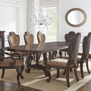 Morris Home Furnishings Angelina Double Pedestal Dining Table