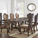 Vendor 3985 Angelina Double Pedestal Dining Table - Item Number: AG486TB+T