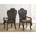 Vendor 3985 Angelina Traditional Upholstered Arm Chair with Scrolled Arms