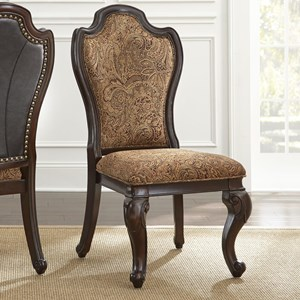 Vendor 3985 Angelina Upholstered Leather & Fabric Side Chair