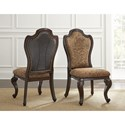 Morris Home Furnishings Angelina Traditional Side Chair with Paisley Upholstery