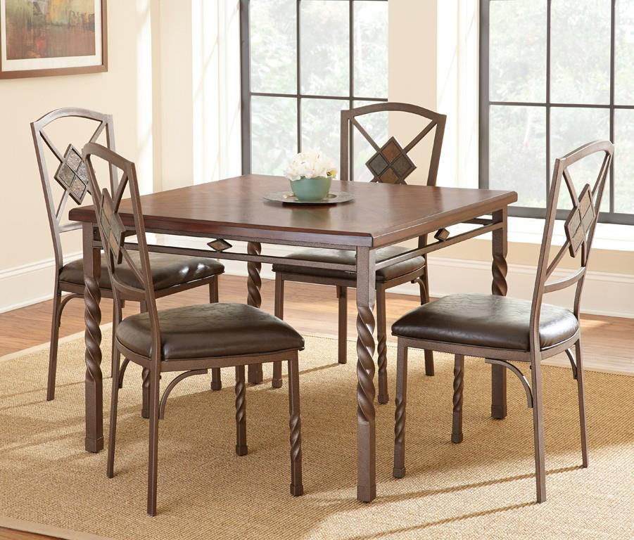 Steve Silver Annabella Dining Table Set - Item Number: AB420T+4xS