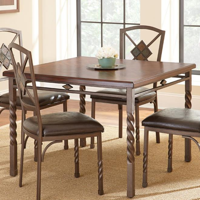 Steve Silver Annabella Square Dining Table - Item Number: AB420T