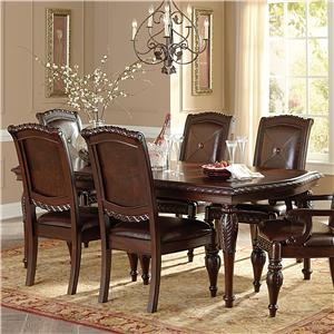 Morris Home Furnishings Antoinette Leg Dining Table